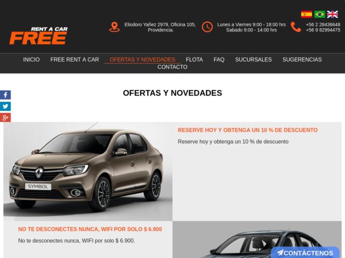 Free Renta A Car Arriendo De Autos Baratos En Chile Profesiones